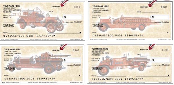 Antique Fire Trucks Checks