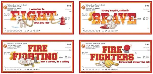 Fire Fighting Puppy Personal Checks