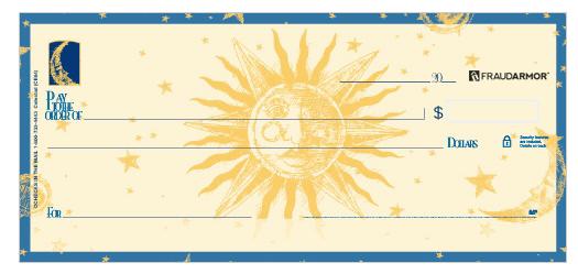 Celestial Sun Personal Checks