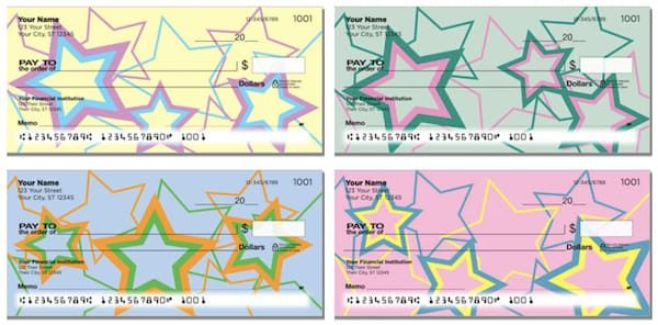 Multi-Colored Stars Checks