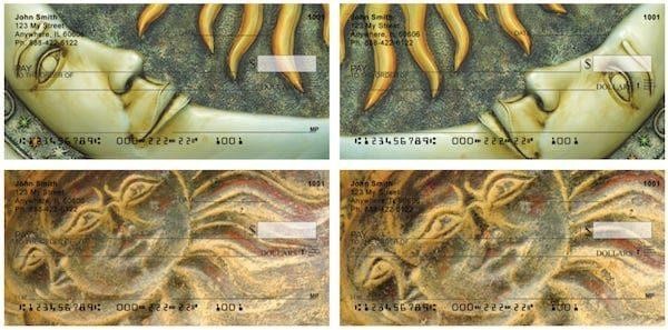 Sun And Moon Symbols Personal Checks