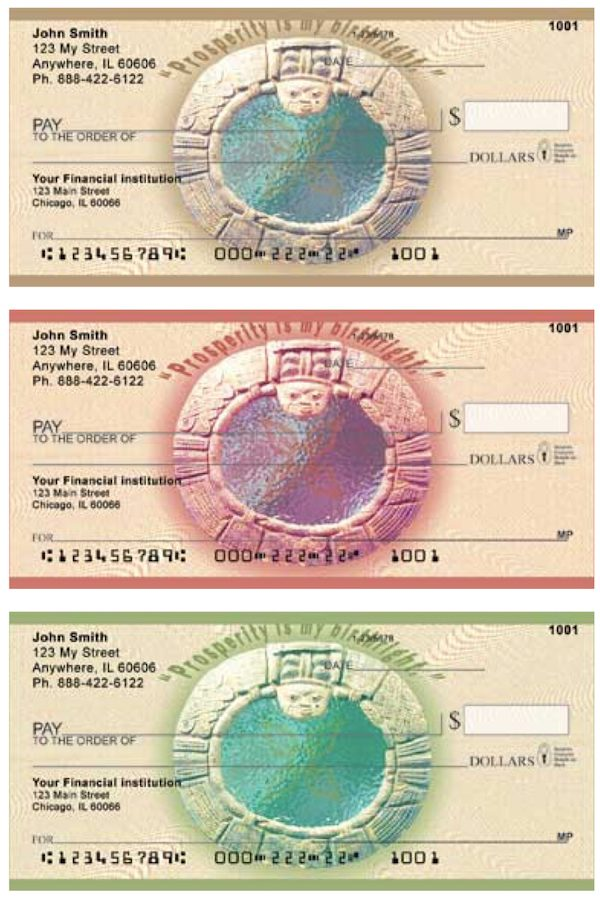 African Motif Prosperity Personal Checks