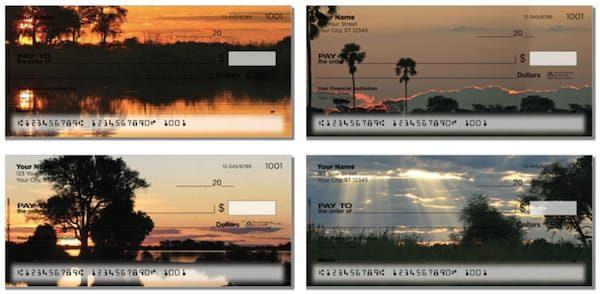 African Sunset Checks