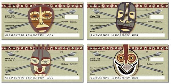 African Tribal Mask Checks