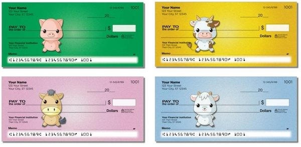 Baby Pigs and Animals Personal Checks