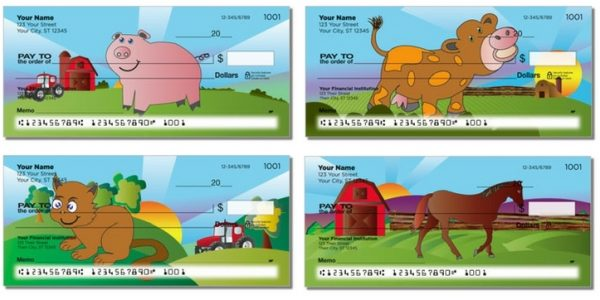 On The Farm Pigs Personal Checks
