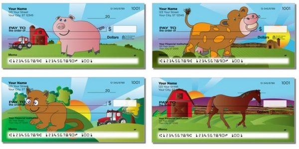 On The Farm Pigs Personal Checks