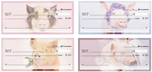 Pretty Pigs Personal Checks