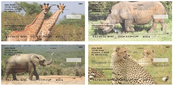 Safari Wildlife Personal Checks