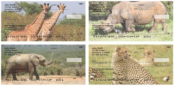 Safari Wildlife Personal Checks