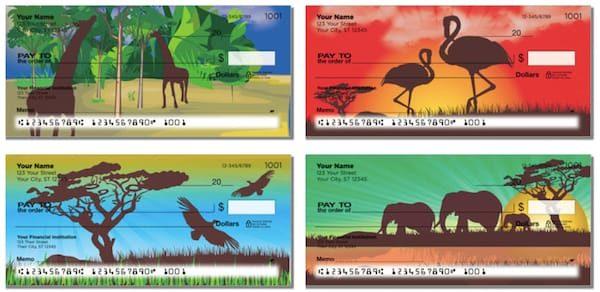 Safari at Sunset Checks