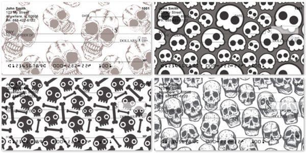 Skull Patterns Personal Checks