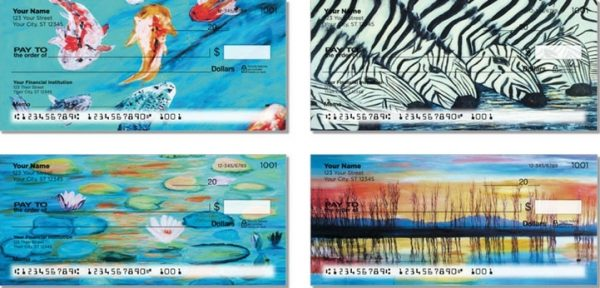 Colorful Water Designs Personal Checks