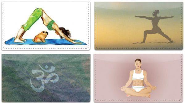 Yoga Checkbook Covers