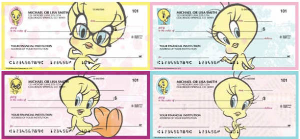 Totally Tweety Bird Looney Tunes Checks