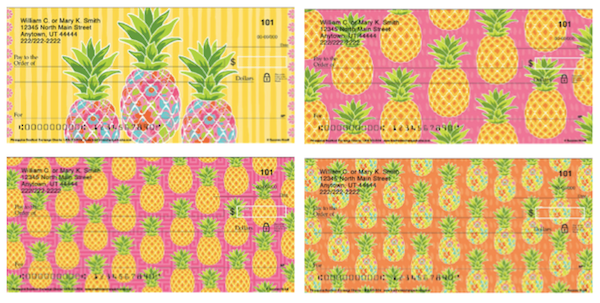 Darling Pineapples Personal Checks
