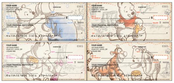 Disney Pooh and Friends Checks