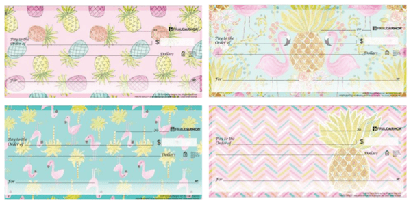 Haute Girls Flamingos and Pineapples Checks