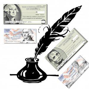 President Washington and President Lincoln Personal Checks