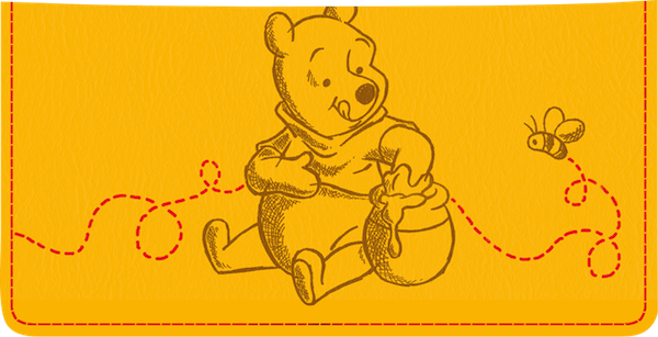 Pooh Bear Checkbook Cover