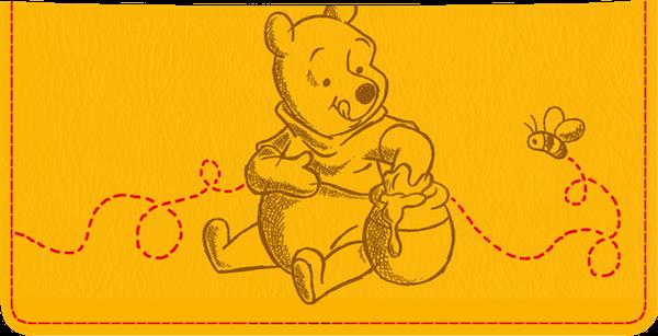 Pooh Bear Checkbook Cover