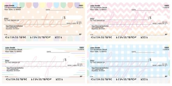 Easter Ideals Personal Checks