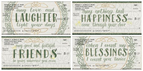 Faithful Irish Blessings Personal Checks