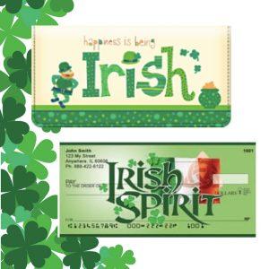 Irish Checks and Checkbook Cover
