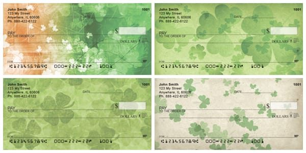 Irish Grunge Personal Checks