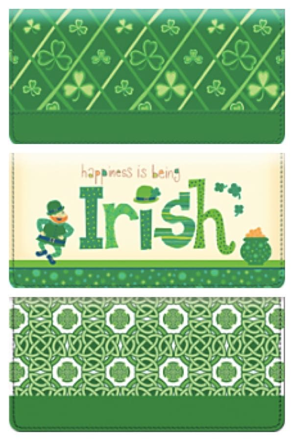 Irish Themed Checkbook Covers