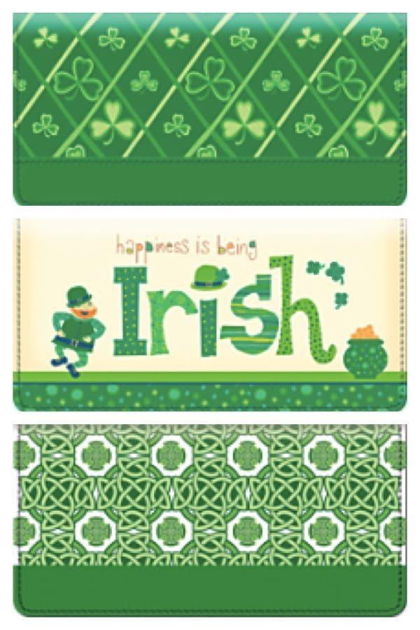 Irish Themed Checkbook Covers