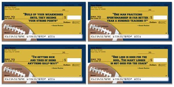 Knute Rockne Checks