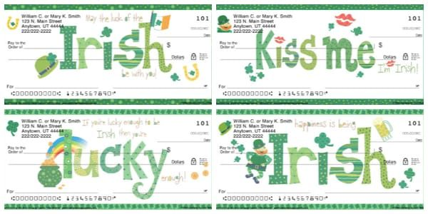 Luck of the Irish Personal Checks