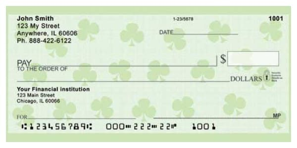 Shamrocks Personal Checks