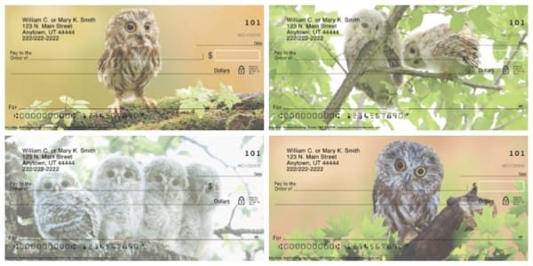 Baby Owls Personal Checks