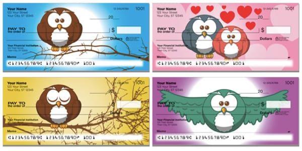 Cartoon Owl Checks
