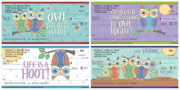Owl You Need is Love Checks