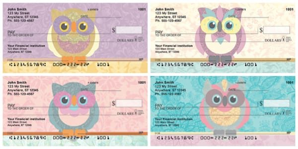 Owls With Style Personal Checks