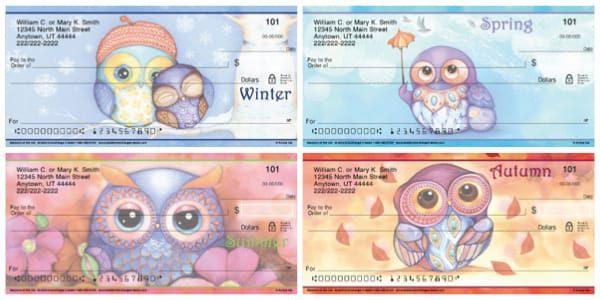 Seasons of the Owl Personal Checks