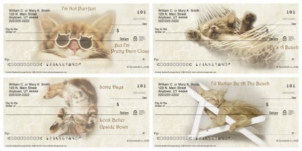 Cat-itude Personal Checks