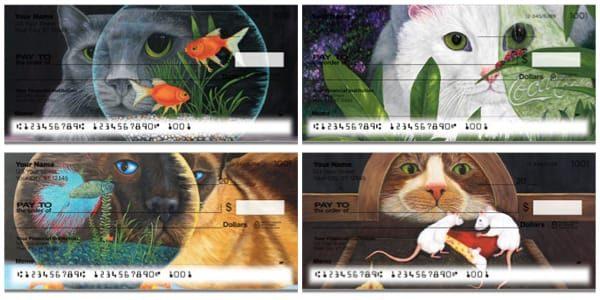 Contemplating Cats Personal Checks