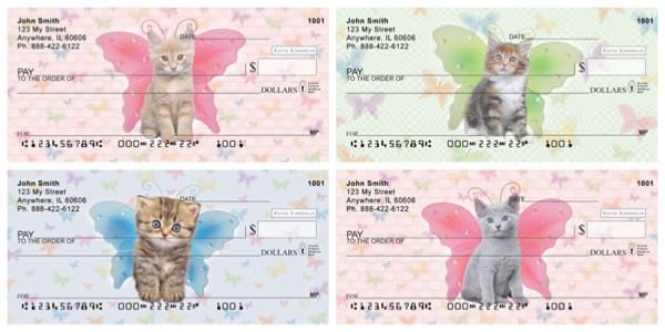 Keith Kimberlin Cat Wings Checks Series