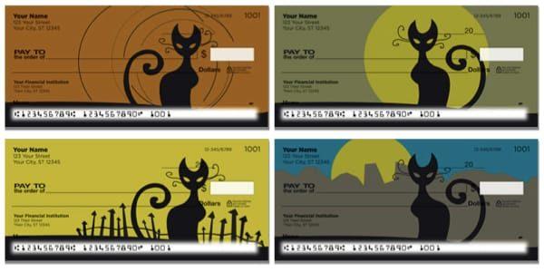 Kitty Noir Personal Checks