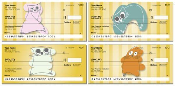 Scribble Cat Personal Checks