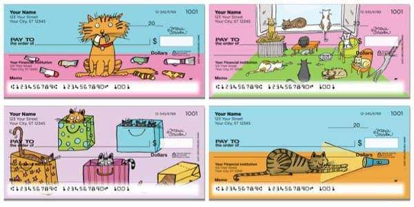 Scrivan Cats Personal Checks