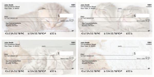 Sleepy Kittens Personal Checks