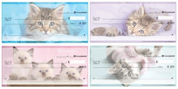 Rachael Hale Kittens Personal Checks